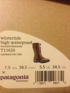 Patagonia Women's 7 1/2 Olive winter boots (Almost new)