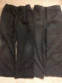 2x grey school trousers 4-5 years