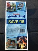 Canada's Wonderland coupons ($18)