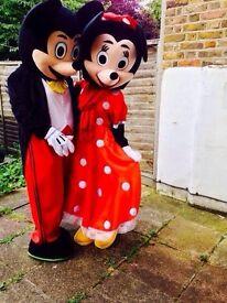 £25*Mickey/minnie Costume hire/Mascot hire