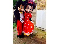 £25*Mickey/minnie/ winnie/ panda/bugs bunny/ Donald duck and many more costume Or mascot hire