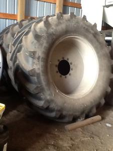 Sprayer tires on rims