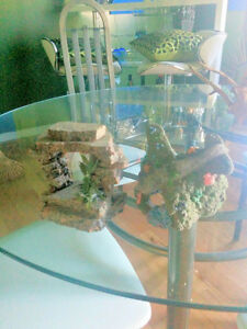 bag of small colored rock for fish tank two nice decorations