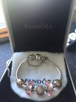 Authentic pandora ROSE collection charms.