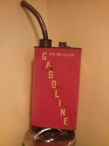 Vintage metal gas can with spout