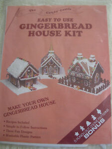 CANDY CASTLE EASY-to-USE GINGERBREAD HOUSE KIT with RECIPES