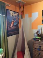Kids bedroom swing and various accents