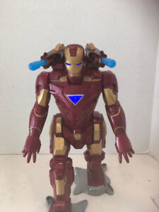 Ironman Robot fires missiles Walks & Talks  13 inches tall