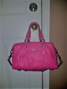COACH Ashley pink leather Convertible shoulder/hand bag purse
