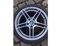 """BMW1 Series 18"""" M Double Spoke 313 REAR Alloy Wheel & Tyre"""