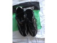 Boys Black Gilbert Football boots ? Size 7 with carry bag