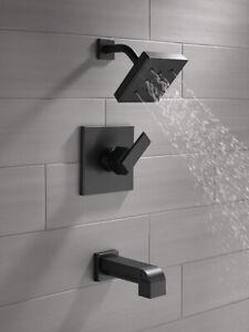 Delta Faucet T14467-BL Monitor 14 Series Tub & Shower ,Matte bla