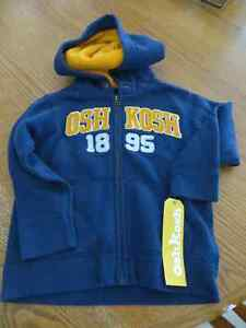 Boys size 3T Osh Kosh Full Zip Hoodie BNWT Kitchener / Waterloo Kitchener Area image 1