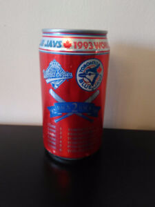 Blue Jays 1993 world series champions Coca cola can