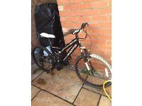 Muddy fox black suspension unisex bike