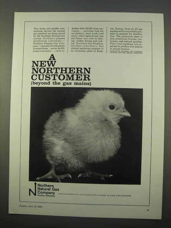 1963 Northern Natural Gas Company Ad - Customer