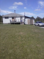 2 BEDROOM BUNGALOW WITH 1 BATHROOM.  4.48 ACRES INCLUDED!
