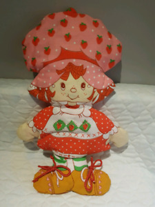 Vintage Strawberry Shortcake Pillow Doll