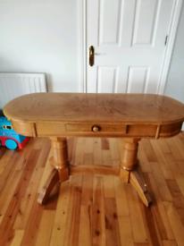 Solid oak dresser table