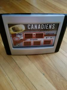 MONTREAL CANADIENS alarm clock