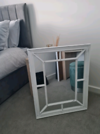 White resin window mirror WOLVERHAMPTON