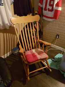 Real wood rocking chair like new
