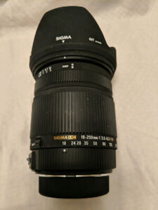 Sigma DC 18-250mm f/3.5-6.3 OS HSM Zoom lens for Pentax