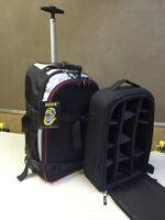 Rolling Travel Backpack with Camera Insert
