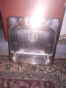 Off center stainless steel sink 8 months old