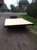 6x9 FLAT BED TRAILER