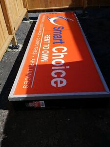 "45"" X 148"" COMMERCIAL LIGHTED SIGNAGE $899"