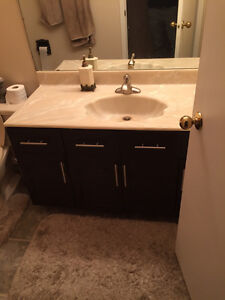 $300 · Three used marble sinks for bath rooms in bone color