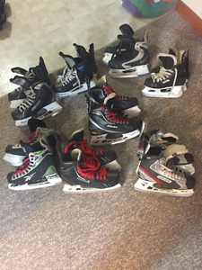 Hockey Skates-various sizes and prices from 25.00 dollars