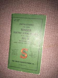 Vintage Singer 201-3 sewing machine manual only