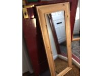 Lovely pine wall mirror