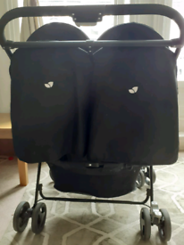 Joie aire double pushchair ( pink& blue)