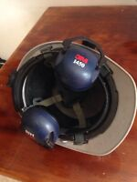 3M construction helmet with ears