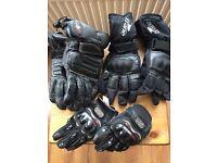 3 pairs of motorbike gloves