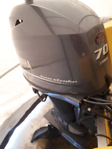 yamaha outboard motor with boat and trailer