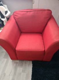Big comfy red armchair