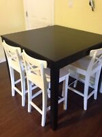 IKEA pub style table and 4 Chairs
