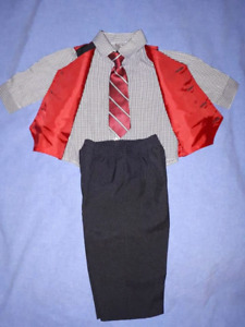 2 Dockers Baby Boy 4pc Suits,Size 12mts,Holiday Wear,Like New EC