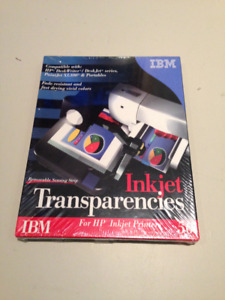 New Box 50 IBM Inkjet Transparencies