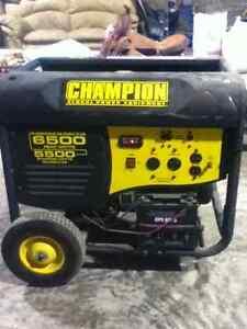 6500 watt Electric Start Generator. Only 4hrs runtime