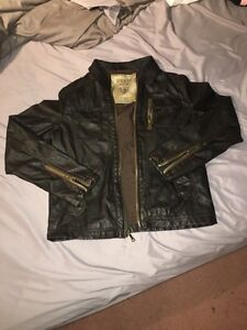Mens Guess leather jacket