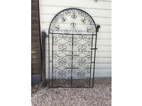 Heavy Wrought iron side gate