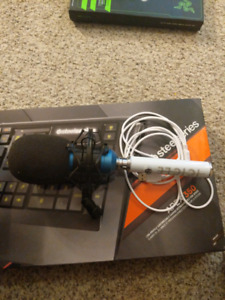 XLR Condenser Mic with Blue Icicle USB adapter