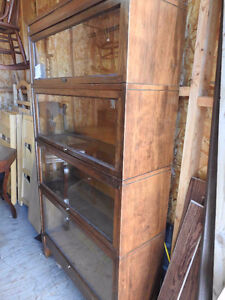 4 level antique barrister bookcase Mission Style