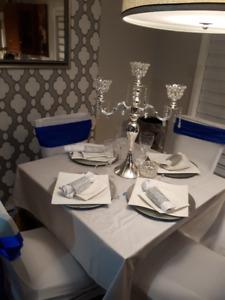 decoration, location, mariage, housse, nappes