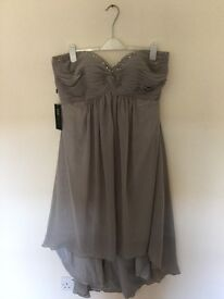 Gorgeous BNWT strapless silver/grey bridesmaid or prom dress size 20.